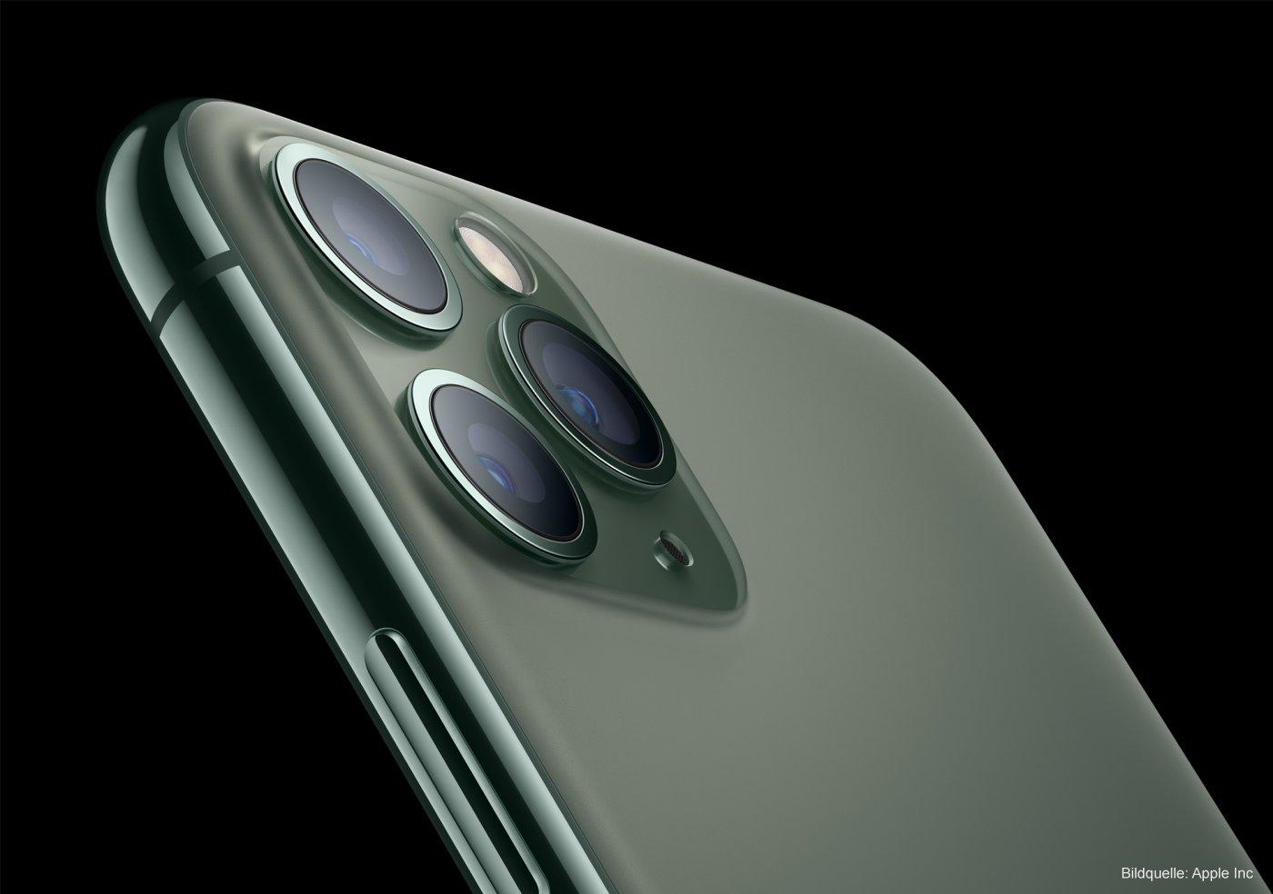 Rückseite des Apple iPhone 11 Pro Smartphone