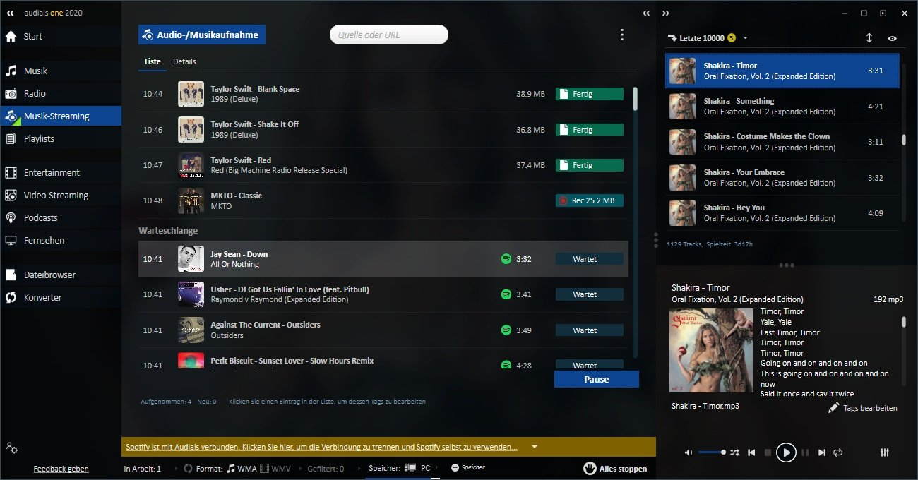 Audials One 2020 Streaming-Rekorder Software