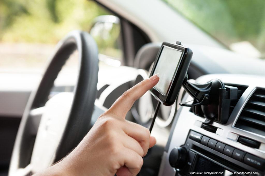 GPS-Navigationssystem im Auto