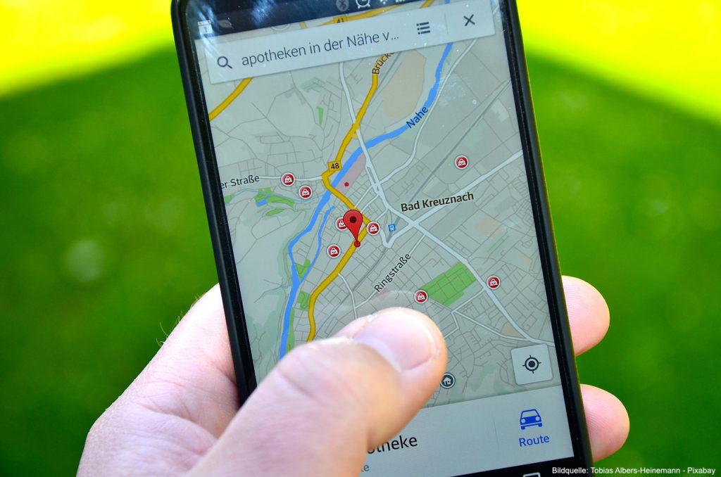 Global-Positioning-System-am-Smartphone