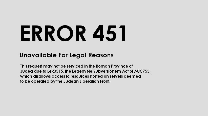 HTML-Error-Code-451 Zensur HTTP-Statuscode 451