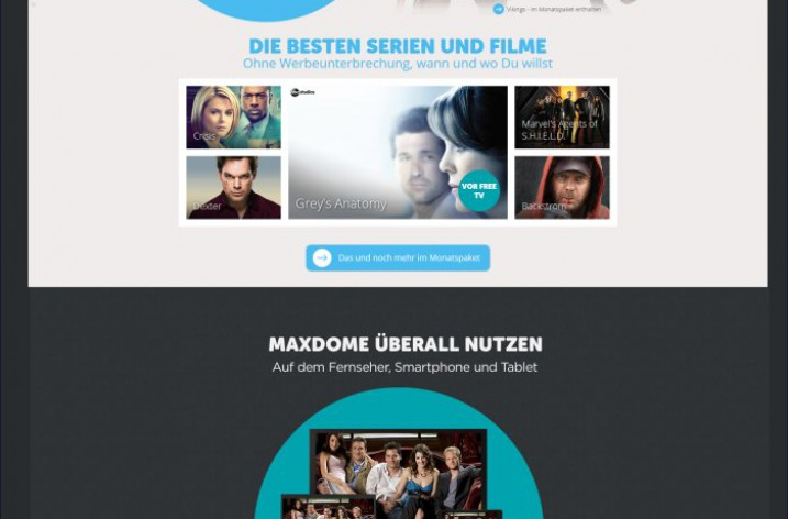Maxdome: Video-on-Demand Angebot wächst weiter