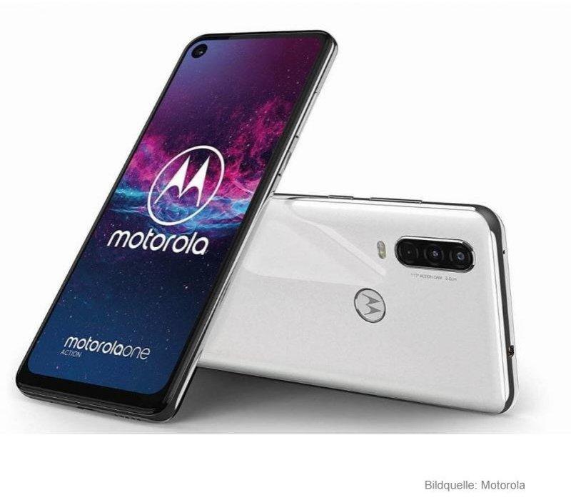 Motorola One Action Smartphone mit Ultra-Weitwinkel-Video-ActionCam