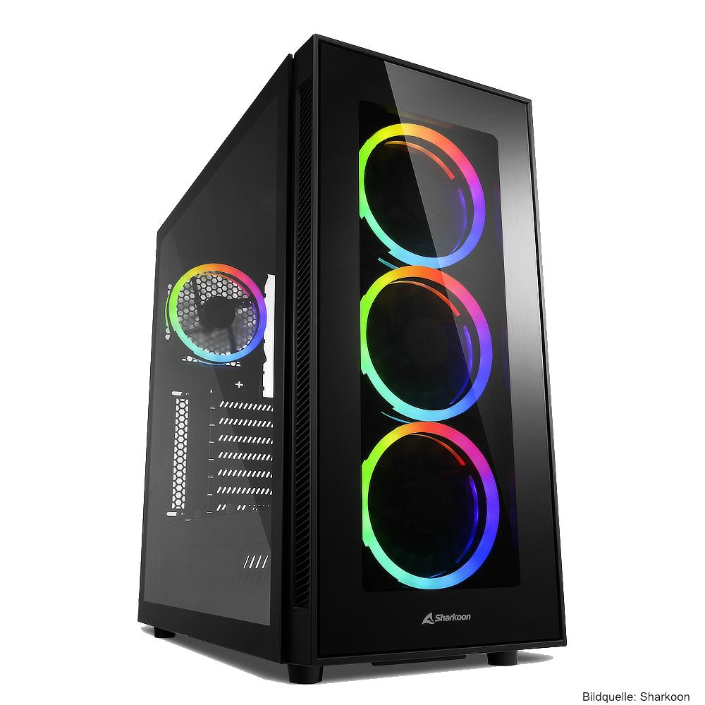 Sharkoon Gehäuse TG5 RGB Silent PCGH Edition
