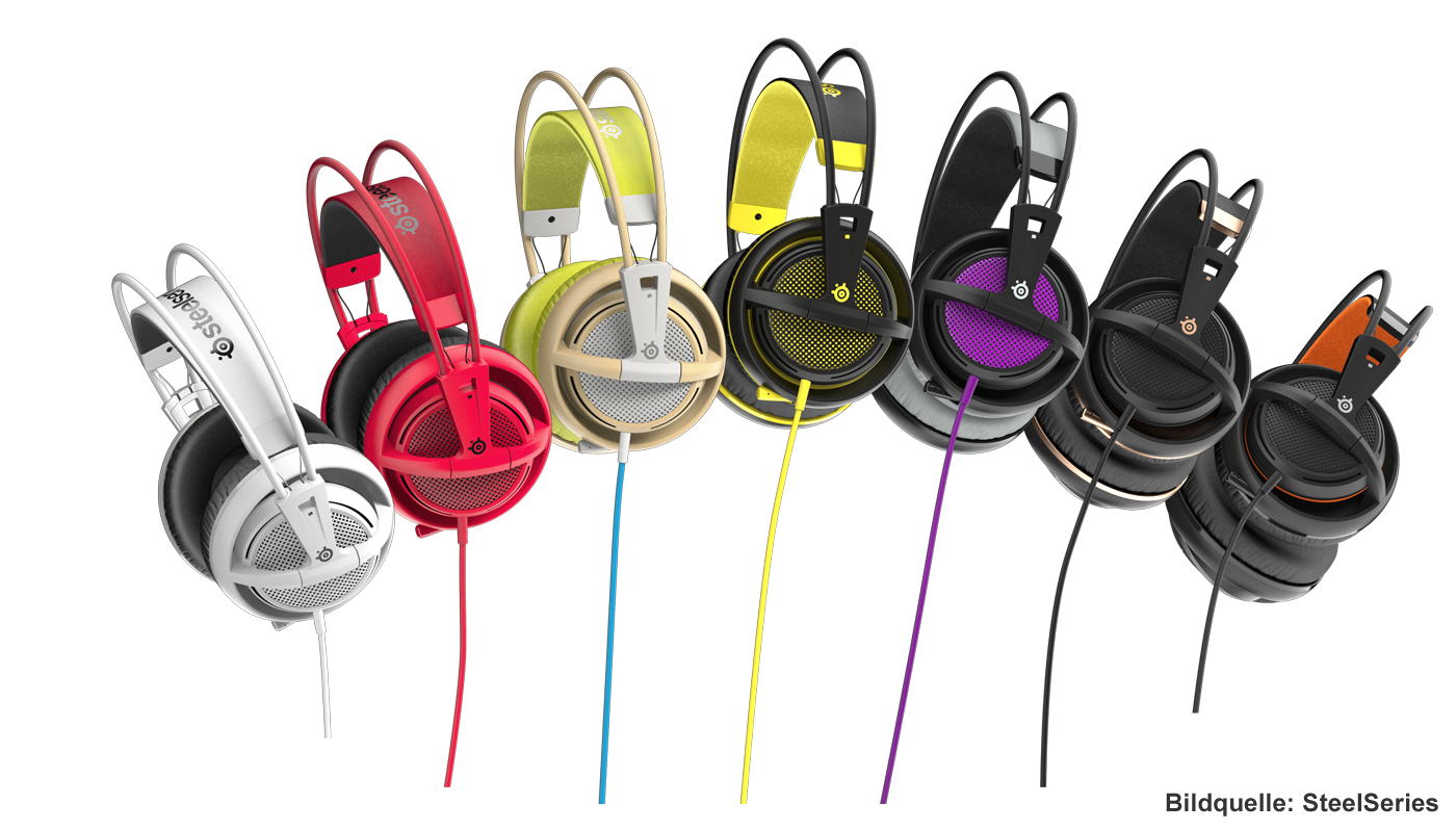 SteelSeries Siberia 200 Gaming-Headset Farben