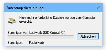 Tipp: Festplattenspeicher unter Windows freigeben per Datenträgerbereinigung