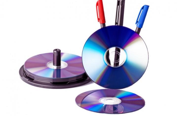 CD- und DVD-Rohlinge richtig beschriften