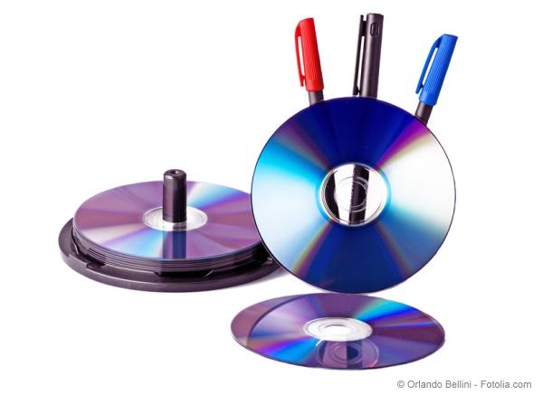CD- und DVD-Rohlinge richtig beschriften mit Label oder Faserschreiber
