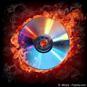CD Rohlinge lassen sich Überbrennen