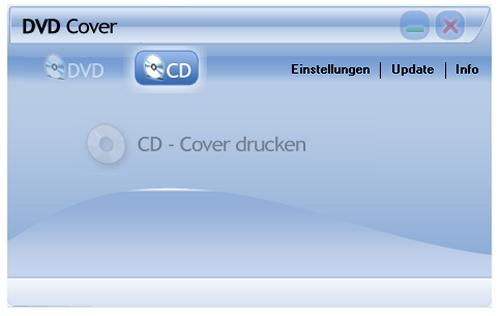 """Mit der Software """"DVD Cover"""" lassen sich CD und DVD Cover drucken."""