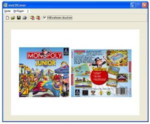 Vorderseite und Rückseite für CD Cover ausdrucken