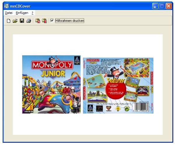 Cover Software, um Vorderseite und Rückseite für CD Cover auszudrucken