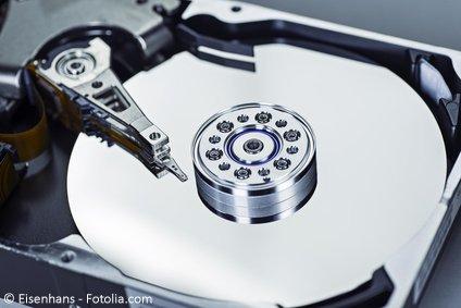 Datensicherung in Unternehmen Festplatte