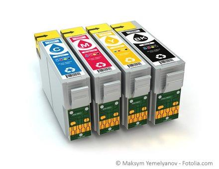Drucker einzelne Tintenpatronen