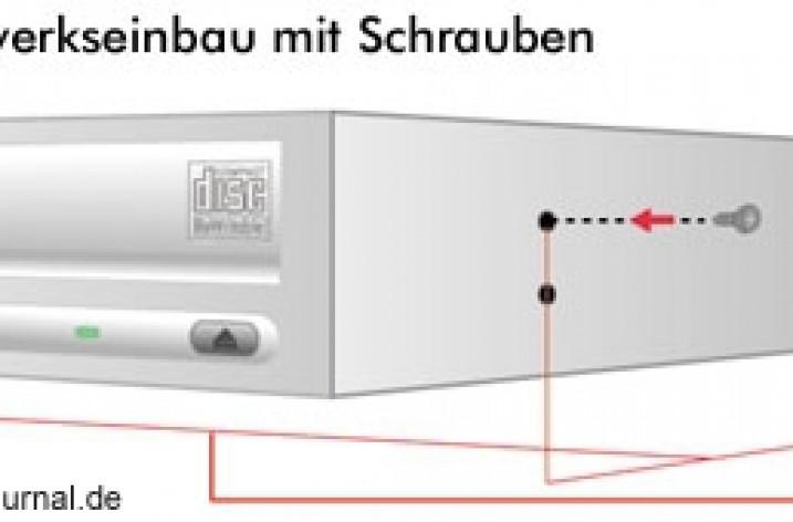 DVD-Brenner & Festplatte einbauen und installieren
