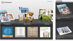 Fotokasten Fotobuch iPad App