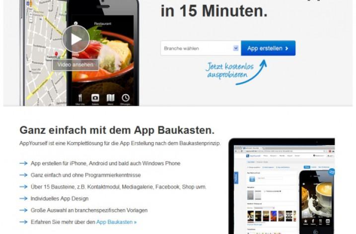 Mobile Apps erstellen mit einem App-Baukasten im Internet