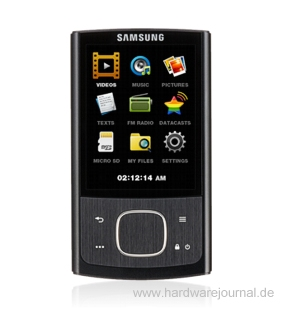 samsung yp r0 mp4 player im test hardwarejournal. Black Bedroom Furniture Sets. Home Design Ideas