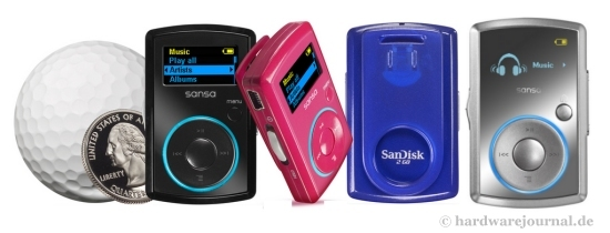 MP3-Player Sandisk Sansa Clip im Test