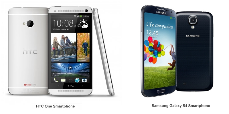 Smartphone HTC One / Samsung Galaxy S4