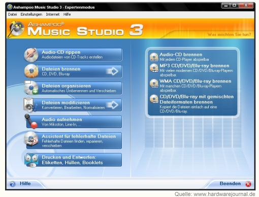 Musiksoftware Ashampoo Music Studio 3