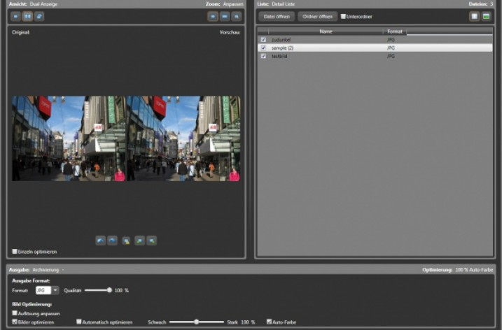 Photomizer Software für Bildoptimierung