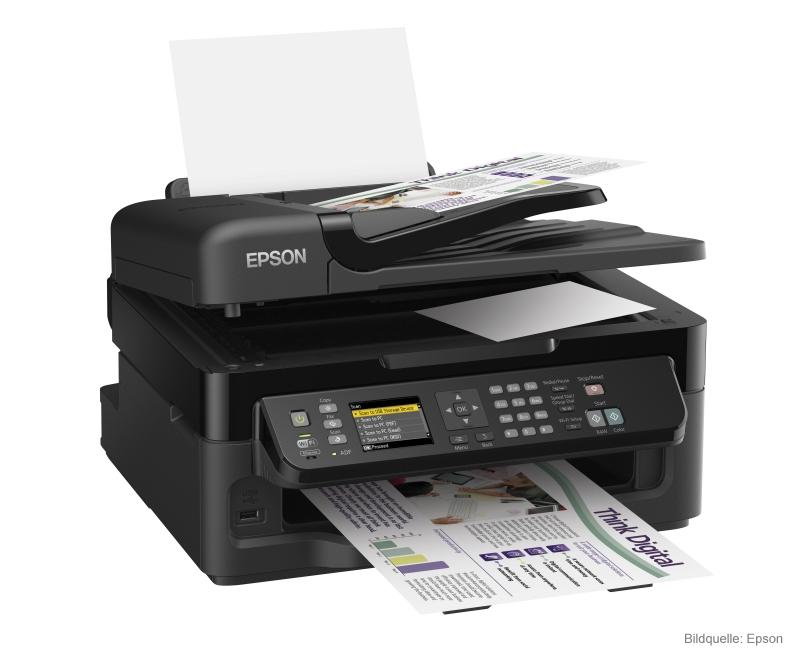 4-in1 Mulitfunktionsgerät und Tintenstrahldrucker Epson Workforce WF-2540wf