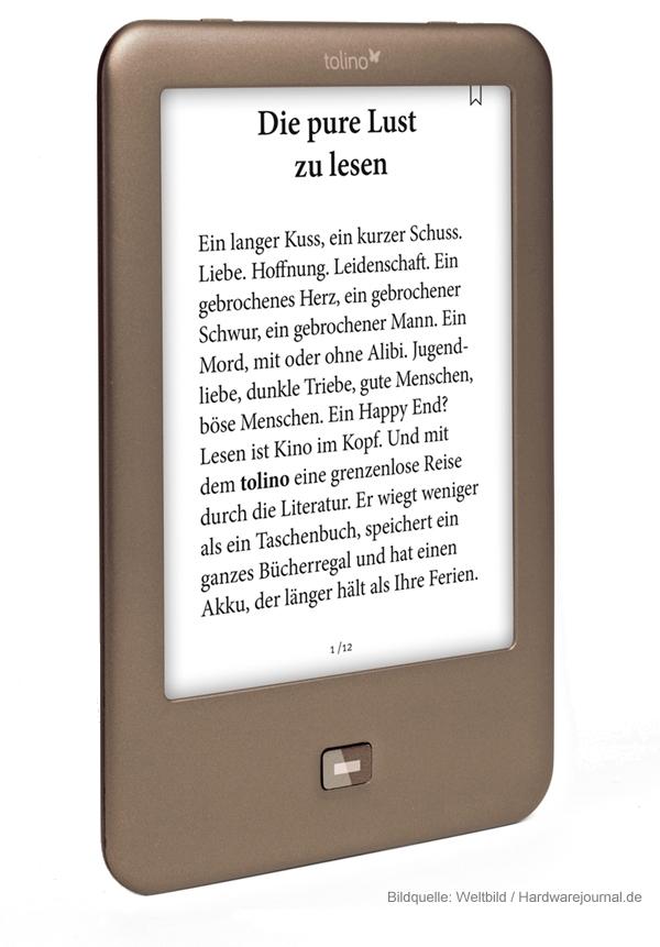 Der E-Book-Reader Tolino Shine kann positiv überzeugen.